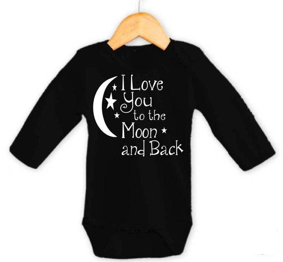 I Love You To The Moon And Back Baby  Romper