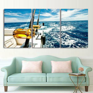 Deep Sea Fishing Canvas