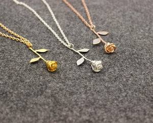Charm Rose Flower Necklace