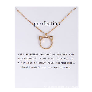 Purrfection Cat Necklace - Free + Shipping