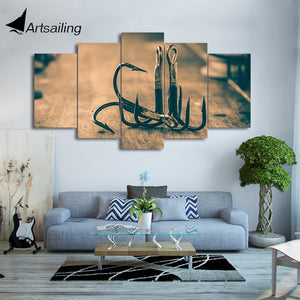 Limited Edition 5-Piece Fishing Hook Canvas