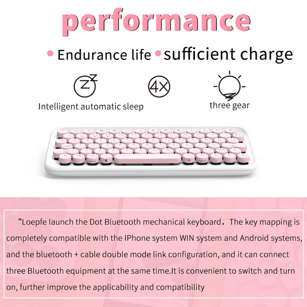 Bluetooth USB Keyboard for ipad/Iphone/Macbook/PC computer