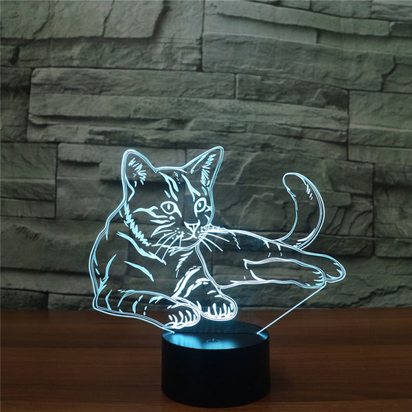 3D LED Cat Lamp