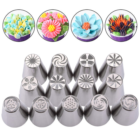 CakeLove - Flower-Shaped Frosting Nozzles 13PCS/SET