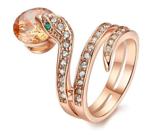 Top Quality Snake Crystal Ring