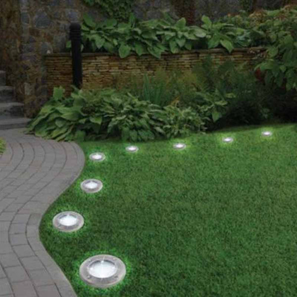 Solar Powered LED Disk Lights Outdoor