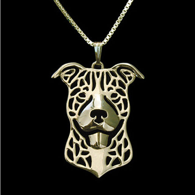 Pit Bull Dog Pendant Necklace - Free + Shipping