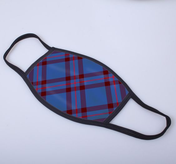 Elliot Tartan Printed Face Mask