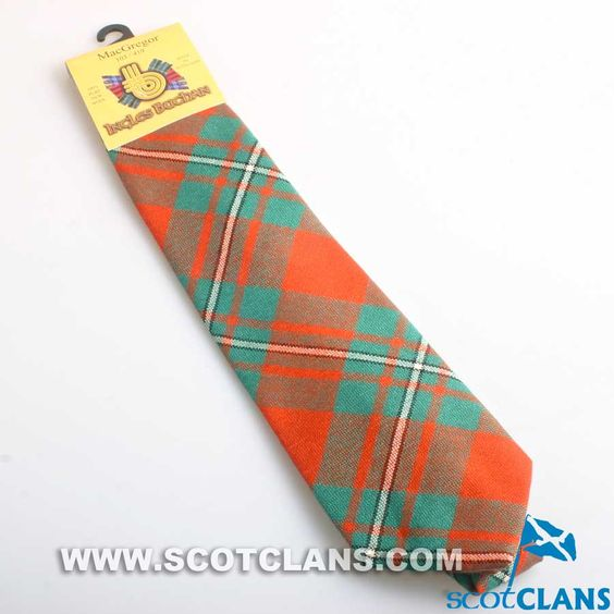 Pure Wool Tie in MacGregor Ancient Tartan.