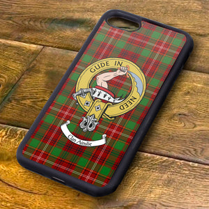 Ainslie Tartan and Clan Crest iPhone Rubber Case