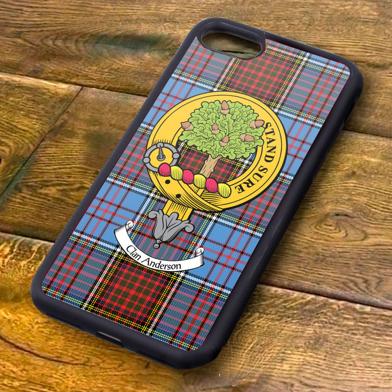 Anderson Tartan and Clan Crest iPhone Rubber Case