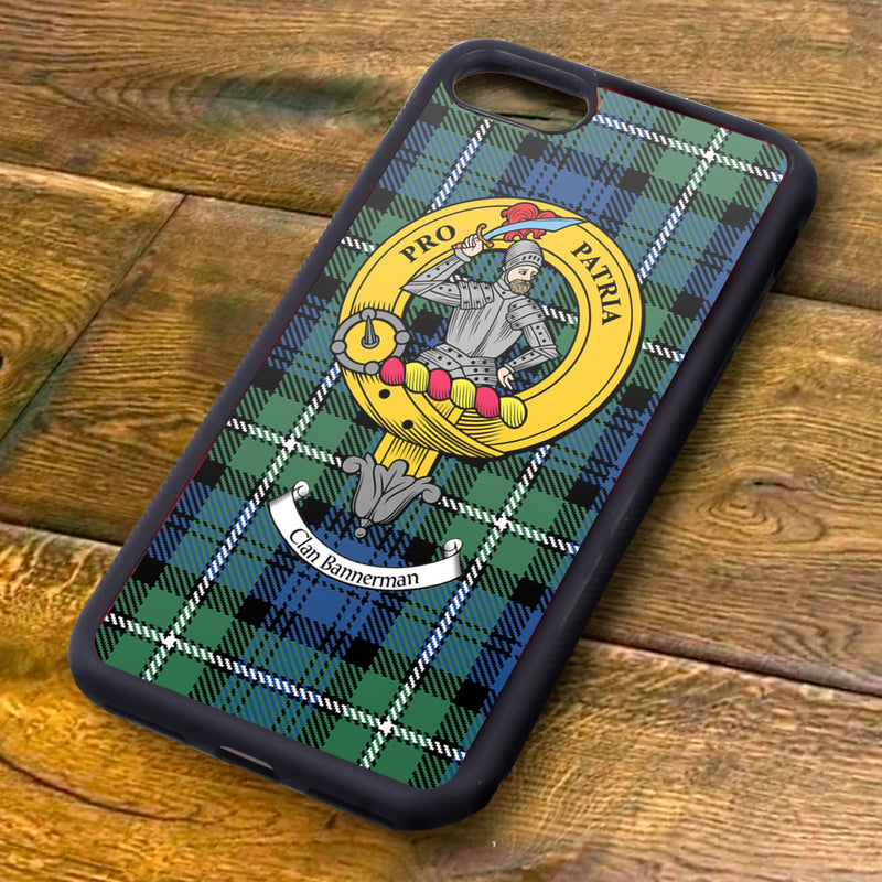 Bannerman Tartan and Clan Crest iPhone Rubber Case