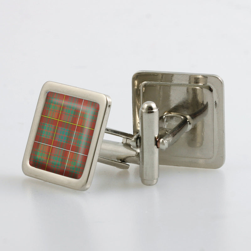 Bruce Ancient Tartan Cufflinks - Choose Your Shape
