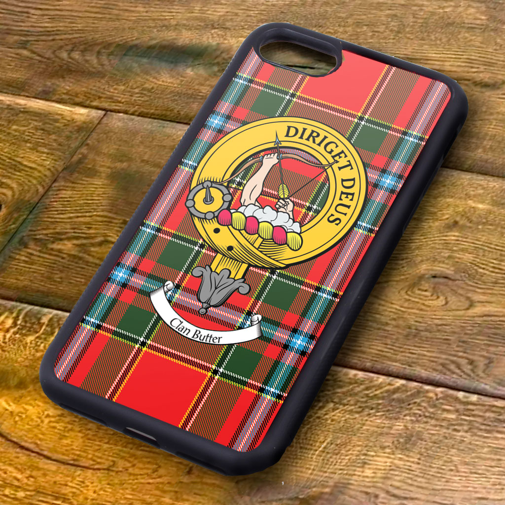 Butter Tartan and Clan Crest iPhone Rubber Case