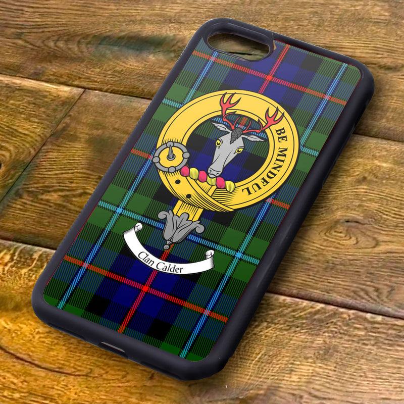 Calder Tartan and Clan Crest iPhone Rubber Case