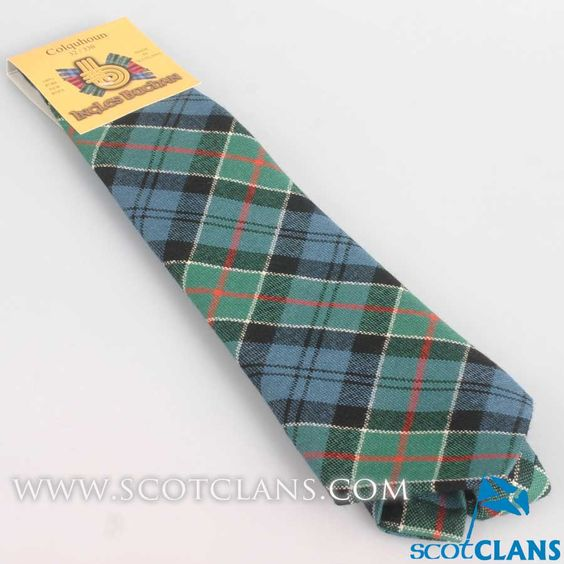 Pure Wool Tie in Colquhoun Ancient Tartan