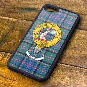 Cooper Tartan and Clan Crest iPhone Rubber Case