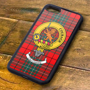 Cumming Tartan and Clan Crest iPhone Rubber Case