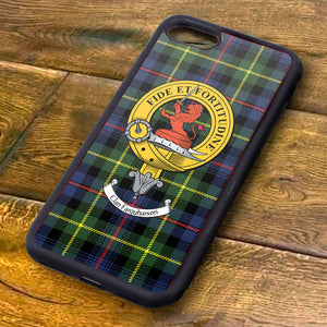 Farquharson Tartan and Clan Crest iPhone Rubber Case
