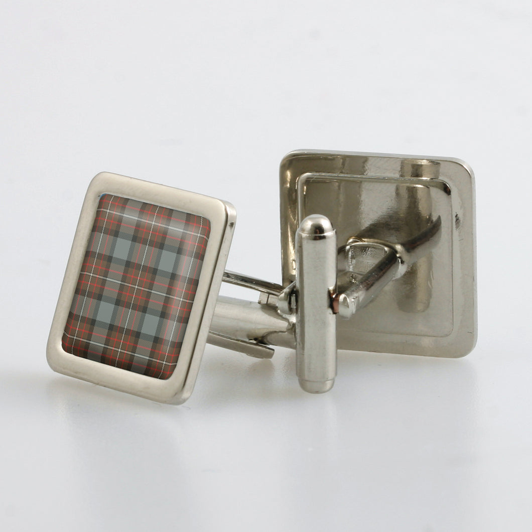 Ferguson Weathered Tartan Cufflinks - Choose Your Shape