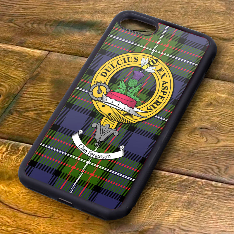Ferguson Tartan and Clan Crest iPhone Rubber Case