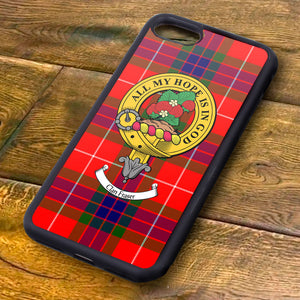 Fraser Tartan and Clan Crest iPhone Rubber Case