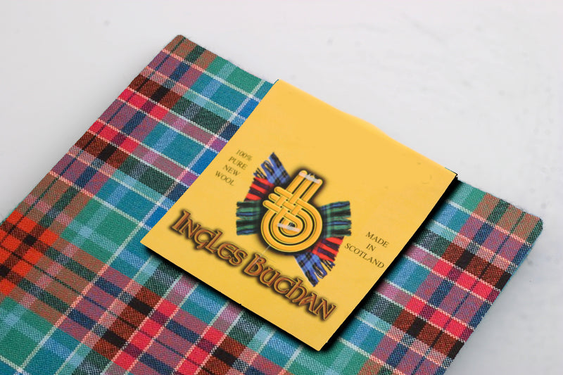 Wool Tartan Pocket Square in Gordon Red Ancient Tartan