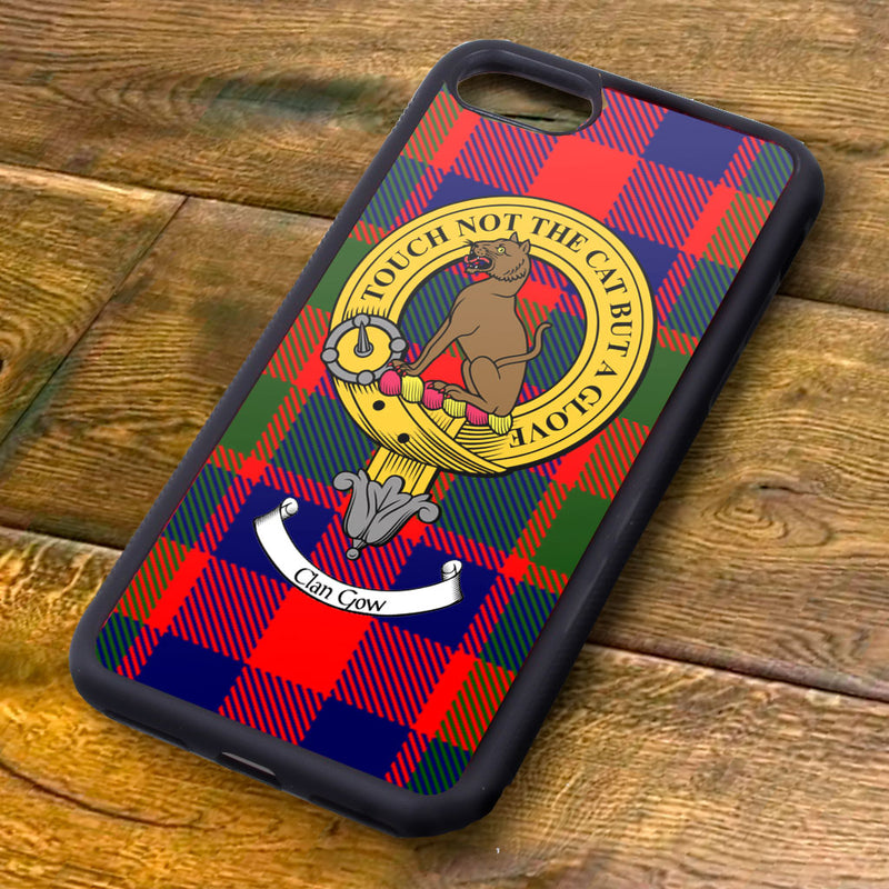 Gow Tartan and Clan Crest iPhone Rubber Case