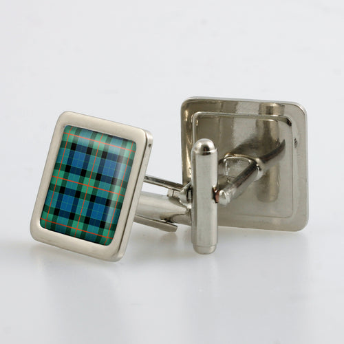 Gunn Ancient Tartan Cufflinks - Choose Your Shape.
