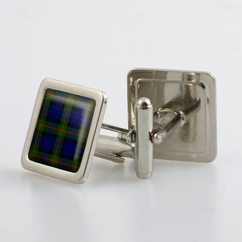 Gunn Modern Tartan Cufflinks - Choose Your Shape
