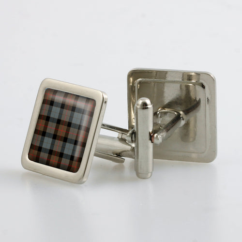 Gunn Weathered Tartan Cufflinks - Choose Your Shape