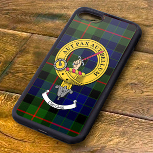 Gunn Tartan and Clan Crest iPhone Rubber Case