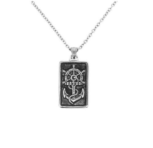 Outlander Inspired Anchor SS Square Pendant