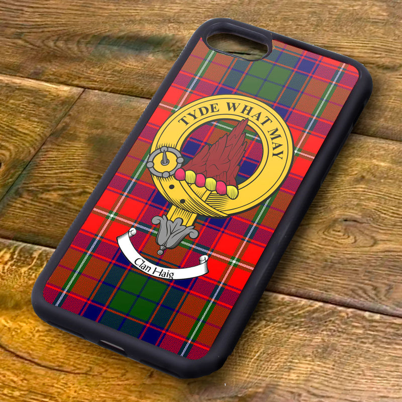 Haig Tartan and Clan Crest iPhone Rubber Case