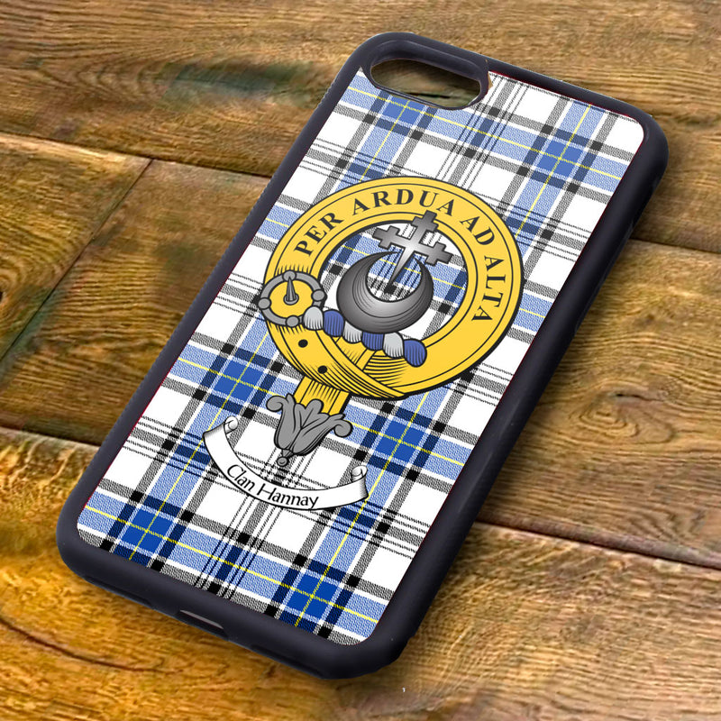 Hannay Tartan and Clan Crest iPhone Rubber Case