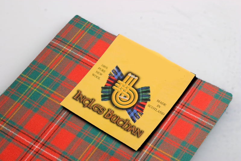 Wool Tartan Pocket Square in Hay Ancient Tartan