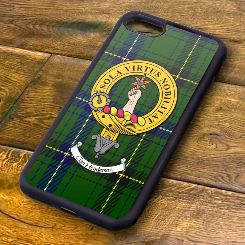 Henderson Tartan and Clan Crest iPhone Rubber Case