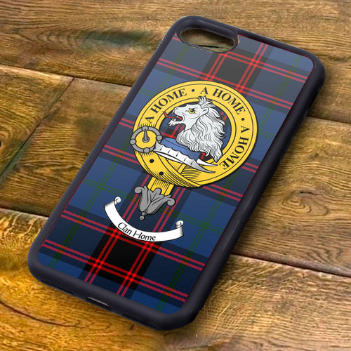 Home Tartan and Clan Crest iPhone Rubber Case