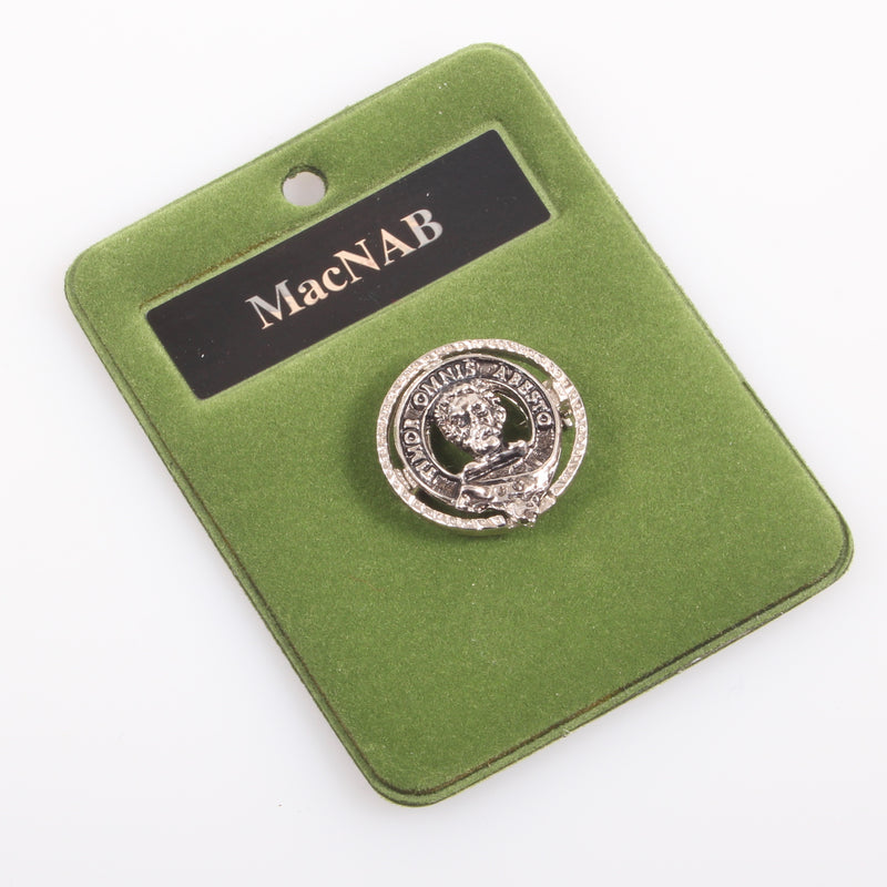 MacNab Clan Crest Small Pewter Pin Badge