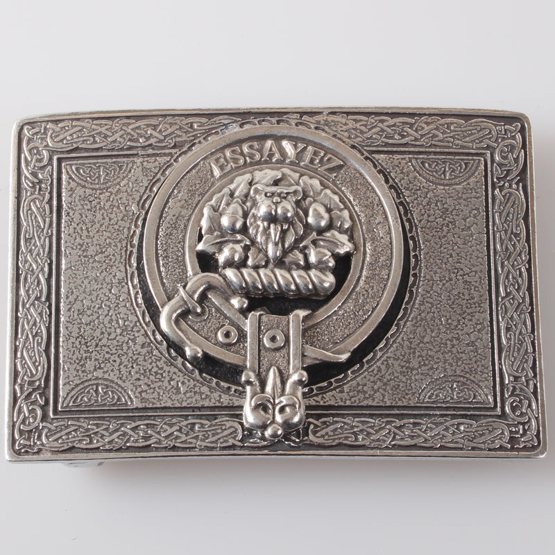 Dundas Pewter Clan Crest Buckle For Kilt Belts