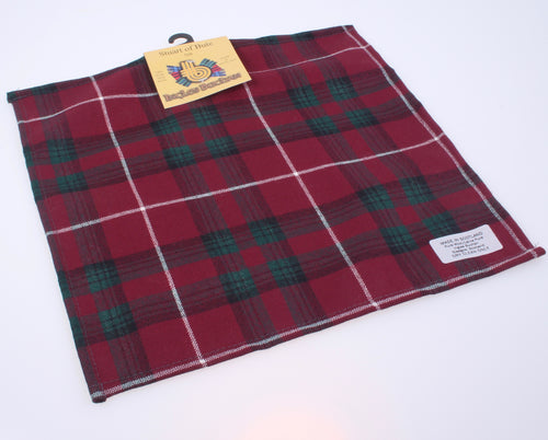 Wool Tartan Pocket Square in Stuart of Bute Tartan