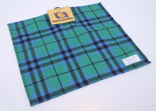Wool Tartan Pocket Square in Marshall Ancient Tartan