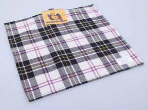 Wool Tartan Pocket Square in MacPherson Dress Tartan