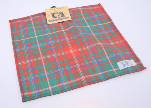 Wool Tartan Pocket Square in MacDougall Ancient Tartan