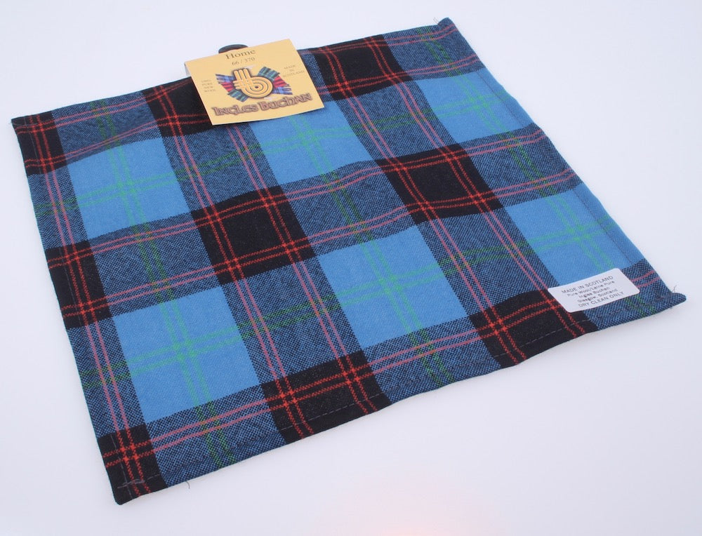 Wool Tartan Pocket Square in Home or Hume Tartan
