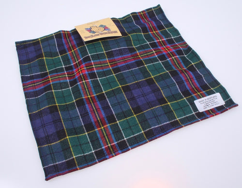 Wool Tartan Pocket Square in Allison Modern Tartan