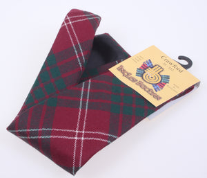 Pure Wool Tie in Crawford Modern Tartan