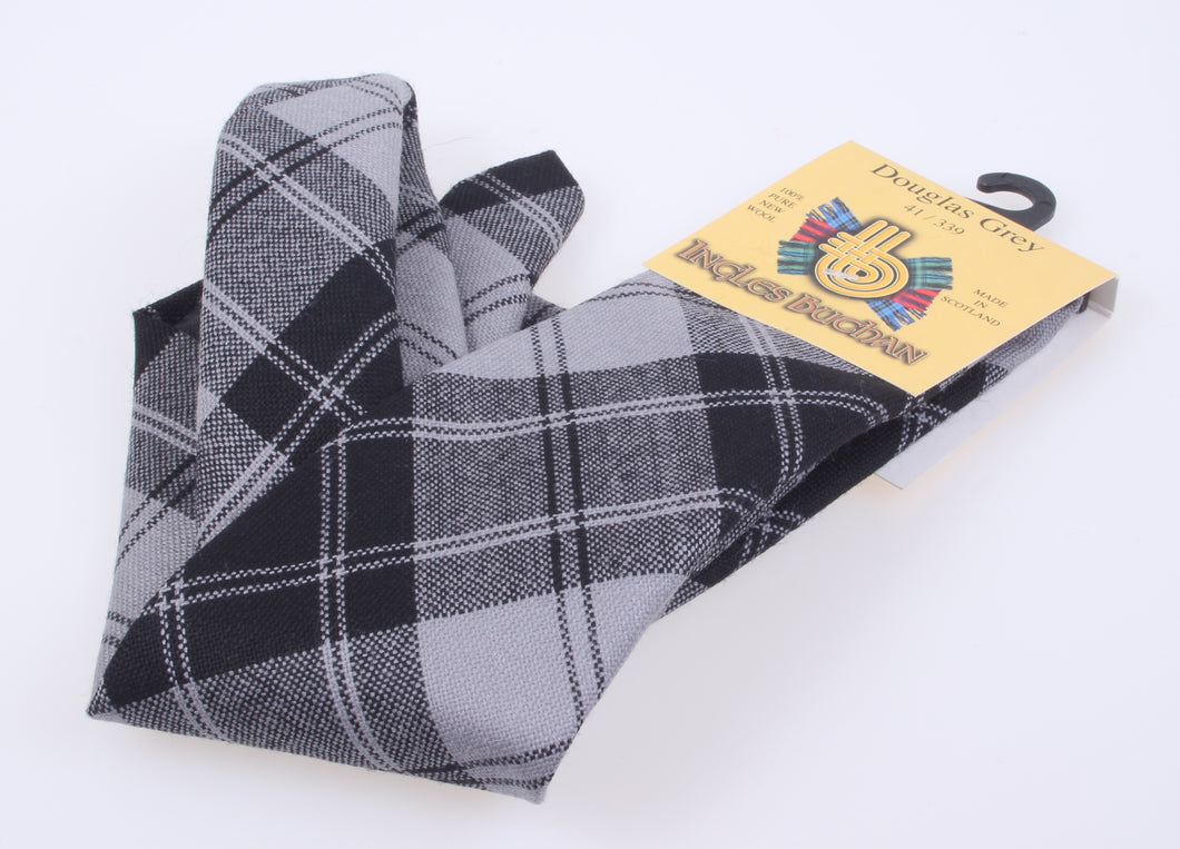 Pure Wool Tie in Douglas Grey Tartan