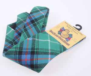 Pure Wool Tie in MacDonald of the Isles Green Ancient Tartan