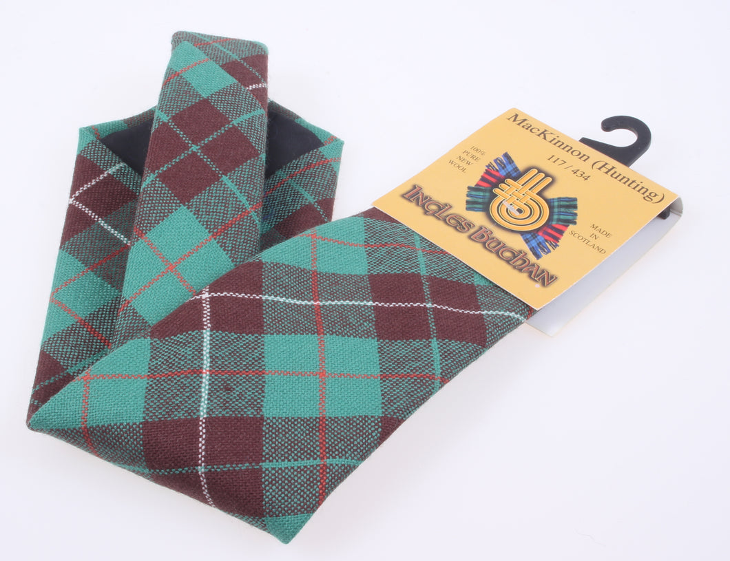 Pure Wool Tie in MacKinnon Hunting Ancient Tartan
